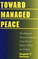 Cover of: Toward Managed Peace