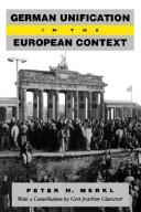 Cover of: German unification in the European context