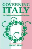 Cover of: Governing Italy | David Hine