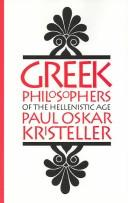 Cover of: Greek philosophers of the Hellenistic age