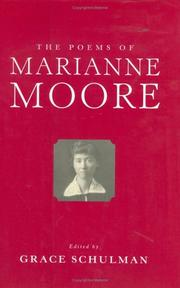 Cover of: The poems of Marianne Moore