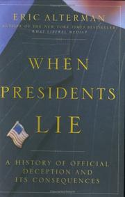 Cover of: When Presidents Lie