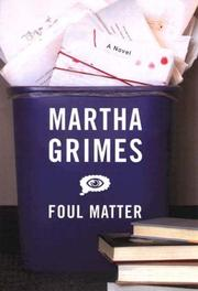 Cover of: Foul matter