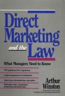 Cover of: Direct marketing and the law