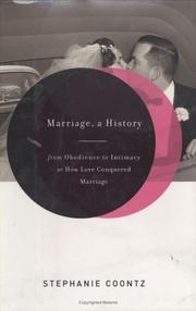 Cover of: Marriage, a History