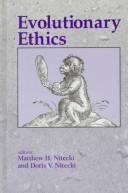 Cover of: Evolutionary ethics