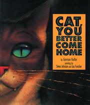 Cover of: Cat, You Better Come Home