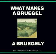 Cover of: What makes a Bruegel a Bruegel?
