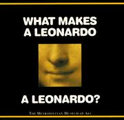 Cover of: What makes a Leonardo a Leonardo?