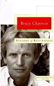 Cover of: Anatomy of Restlessness: Selected Writings 1969-1989