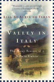 Cover of: A Valley in Italy | Lisa Saint Aubin de Teran