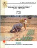 Cover of: Research and education for the development of integrated crop-livestock-fish farming systems in the tropics | Edwards, Peter