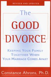 Cover of: The Good Divorce | Constance Ahrons