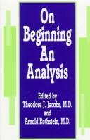 Cover of: On beginning an analysis |