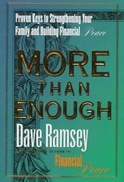 Cover of: More than enough