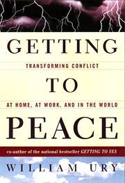 Cover of: Getting to peace