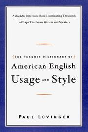 Cover of: The Penguin dictionary of American English usage and style
