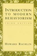 Introduction to modern behaviorism by Howard Rachlin