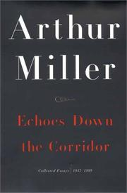 Cover of: Echoes down the corridor: collected essays, 1944-2000