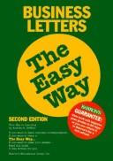 Cover of: Business letters the easy way | Andrea B. Geffner