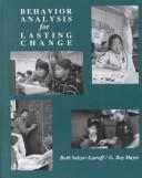 Cover of: Behavior analysis for lasting change