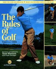 Cover of: The rules of golf