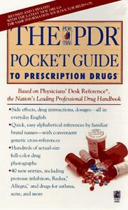Cover of: The PDR POCKET GUIDE TO PRESCRIPTION DRUGS SECOND EDITION (Pdr Family Guides) | Physician