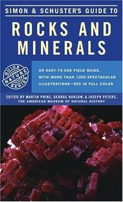 Cover of: Simon and Schuster's Guide to rocks and minerals | edited by Martin Prinz, George Harlow, and Joseph Peters.