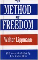 Cover of: The method of freedom