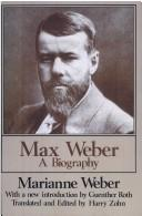 Cover of: Max Weber
