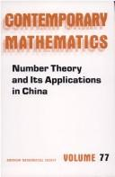 Cover of: Number theory and its applications in China |