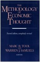 Cover of: The Methodology of economic thought