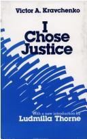 Cover of: I chose justice