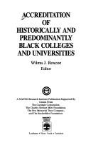 Cover of: Accreditation of historically and predominantly Black colleges and universities |