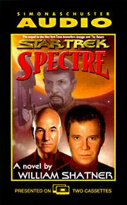 Cover of: Star Trek Spectre