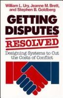 Cover of: Getting disputes resolved