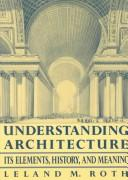 Cover of: Understanding architecture