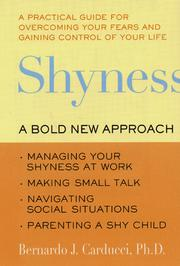 Cover of: Shyness | Bernardo J. Carducci Ph.D.