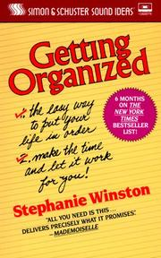 Cover of: Getting Organized Cassette | Stephanie Winston