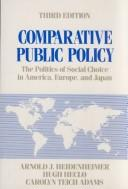 Cover of: Comparative public policy