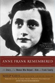 Cover of: Anne Frank Remembered | Miep Gies