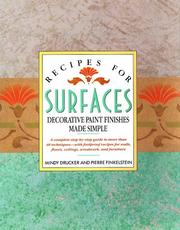 Cover of: Recipes for surfaces | Mindy Drucker
