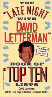 "Cover of: The ""LATE NIGHT WITH DAVID LETTERMAN"" BOOK OF TOP TEN LISTS"