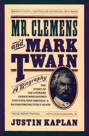 Cover of: Mr. Clemens and Mark Twain