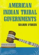 Cover of: American Indian tribal governments | Sharon O
