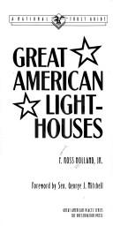 Cover of: Great American lighthouses