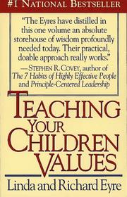 Cover of: Teaching children values