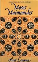 Cover of: Moses Maimonides | Oliver Leaman