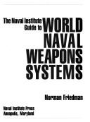 Cover of: The Naval Institute guide to world naval weapons systems