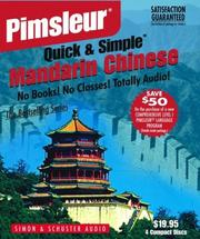 Cover of: Chinese (Mandarin): Learn to Speak and Understand Mandarin with Pimsleur Language Programs (Quick & Simple) | Pimsleur